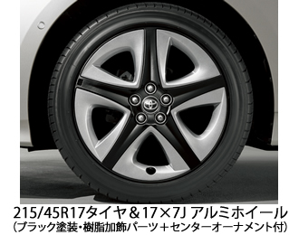 215/45R17タイヤ&17×7Jアルミホイール