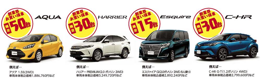 創業祭お買い得車限定125台!