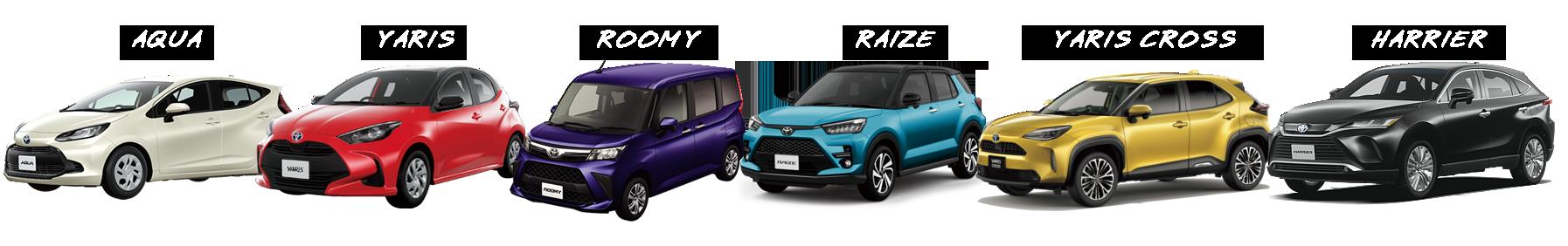 SUVとコンパクトカー